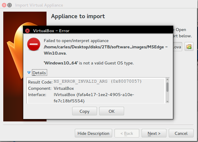 Using Windows 10 Appliance in Ubuntu Virtual Box 4 3 10